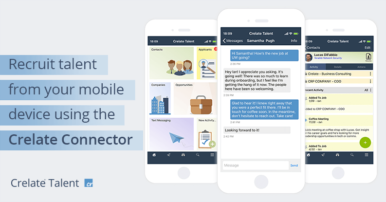 Recruit talent from your mobile device using the Crelate Connector